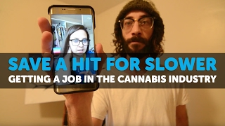 Getting a Job in the Cannabis Industry - SAVE A HIT FOR SLOWER ep 11