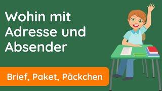 Brief beschriften ✅ Adresse, Absender, Briefmarke