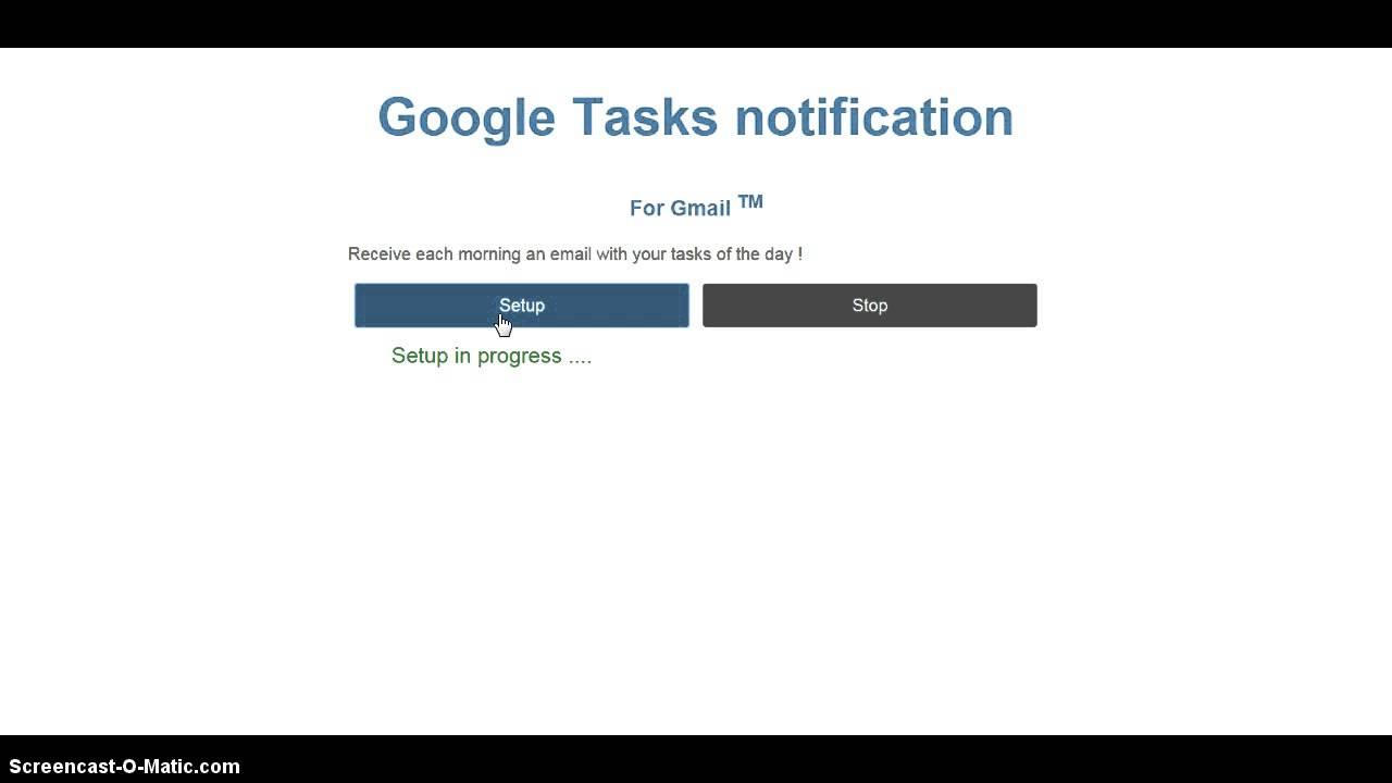 Google Tasks notification