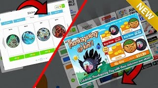 AGARIO MOBILE | TEAMING WITH *NEW SKINS* | NEW *HACKED SKINS* ?!!