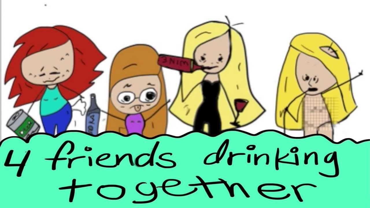 Girls Drinking Fail Animation Dark Humor Satire Youtube