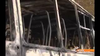 У поселке Ярега под Ухтой сгорел ПАЗик