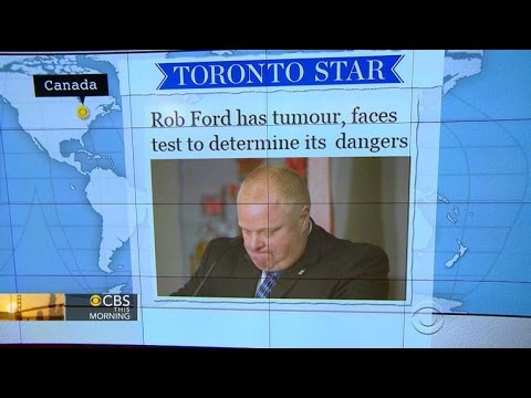 Headlines at 8:30: Toronto Mayor Rob Ford in hospital with a tumor