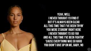 Alicia Keys - YOU SAVE ME ft. Snoh Aalegra (Lyrics)