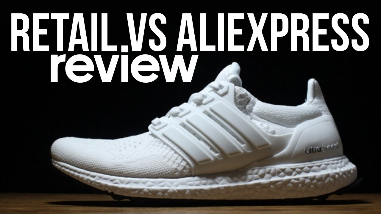 UNBOXING Adidas Ultra Boost $40 AliExpress Fakes VS Retail IN HAND