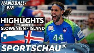 Bärenstarkes Slowenien bezwingt auch Island   Spielbericht   Handball-EM   Sportschau