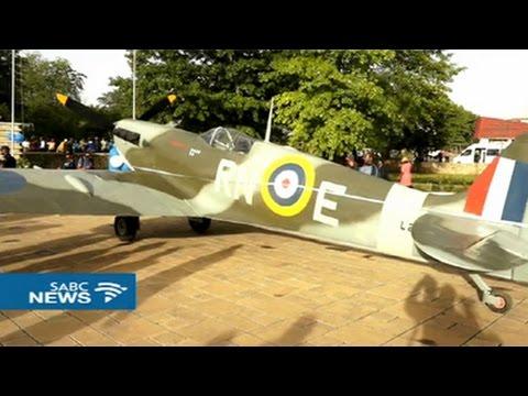 Lesotho's King Letsie III unveils Spitfire fighter jet memorial