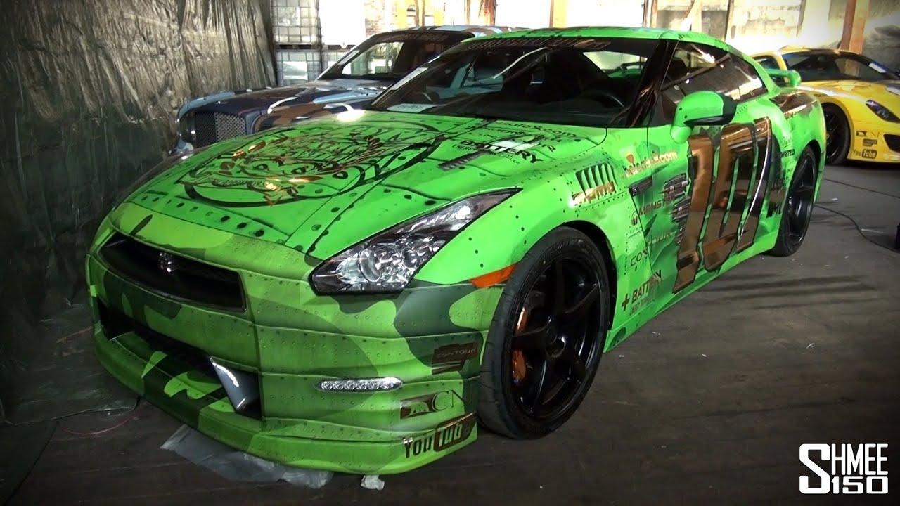 Gumball 3000 2013: Team Wolfpack Nissan GT-R - Green ...