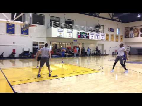 Stephen Curry and Kevin Durant shooting 3s & 2s together - Warriors (2-0) practice, 2 days b4 SAS G3