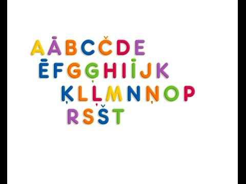 Alfabēta dziesma - Latvian ABC Song