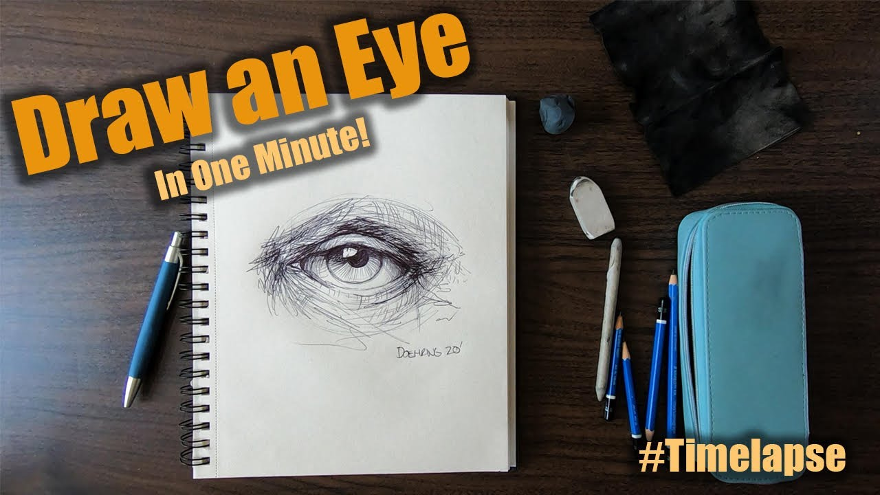 How to Draw a Man's Eye: Time-lapse | Palette Passions Studio