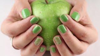 Návod: Šťavnatě zelené nehty s puntíky