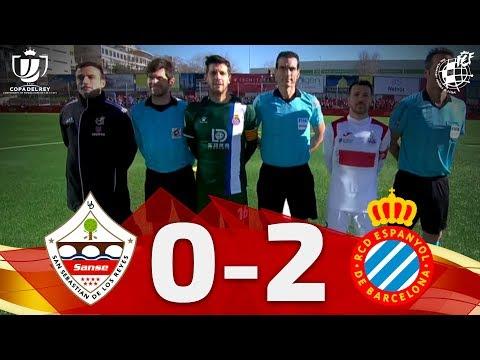 RESUMEN   Copa Del Rey    UD San Sebastián De Los Reyes 0 - 2 RCD Espanyol