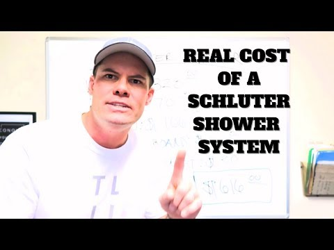 The Real Cost of a Schluter Shower