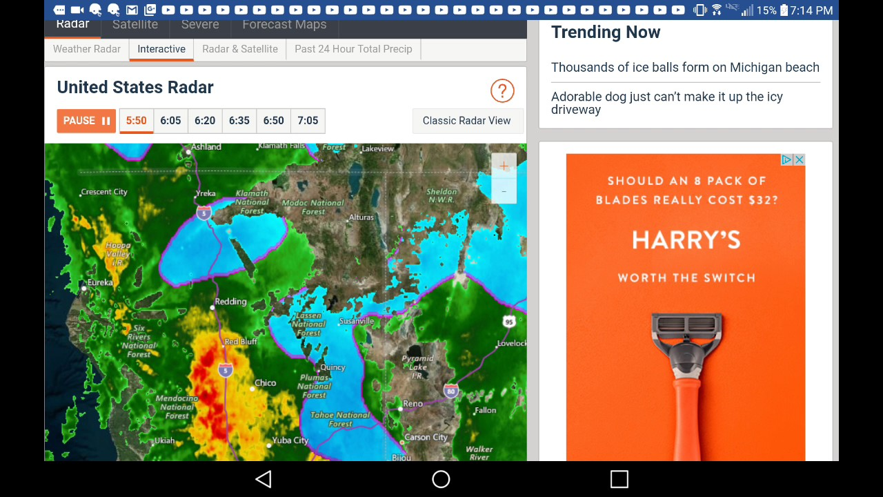 southeast interactive radar realtime and predictive radar green