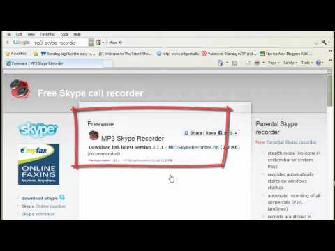 How to record both sides of the conversation on SKYPE for FREE- Pass it on!