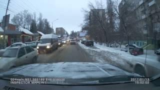 Машина сбила ребёнка на улице Навашина 13.01.2017 в 17 часов