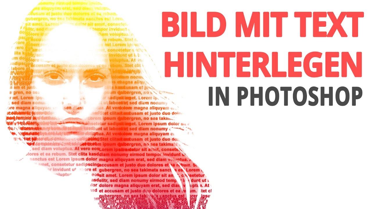 text i bild photoshop