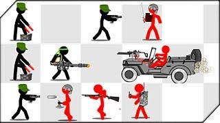 - НА ДЖИПЕ ПРОТИВ СТИКМЕНОВ Stickman Army The Defenders