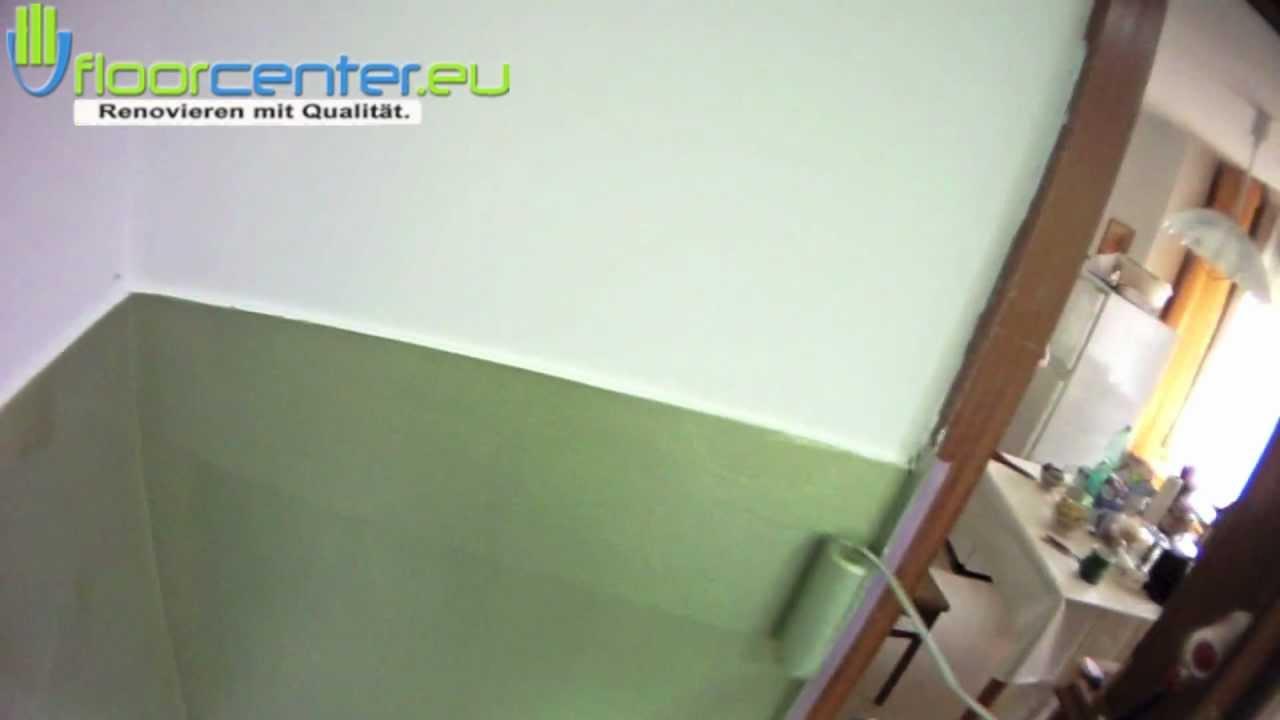 Wandgestaltung abwaschbare Fliesenfarbe farbe ideen fr