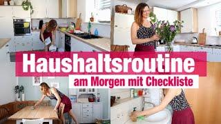 Endlich Ordnung ! Meine PUTZROUTINE Morgens | HAUSHALTS ROUTINE Mit CHECKLISTE | Cleaning Routine