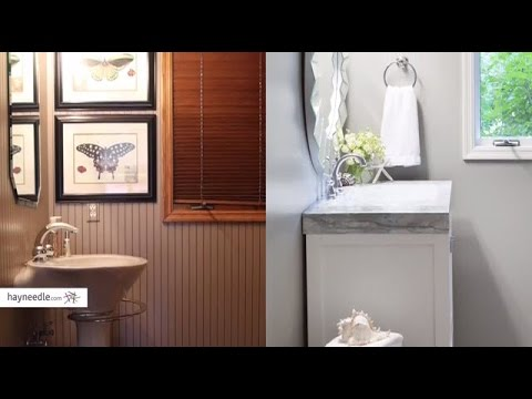easy bathroom updates | hayneedle - youtube