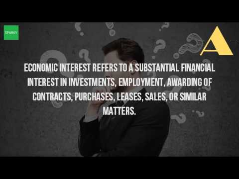 What Is The Meaning Of Economic Interest?