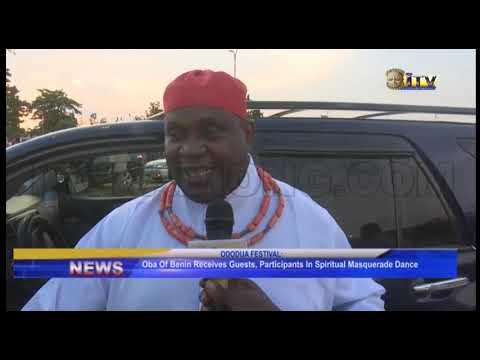 Oba of Benin receives guests, participants in Spiritual Masquerade Dance