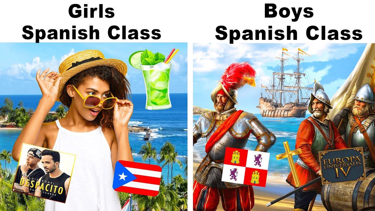 BOYS vs GIRLS : SPANISH CLASS