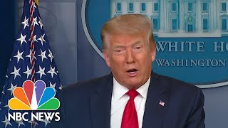 Trump Claims To Have 'Very Good' Relationship With Governors On Coronavirus Response   NBC News