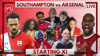 Southampton vs Arsenal | Starting XI LIVE