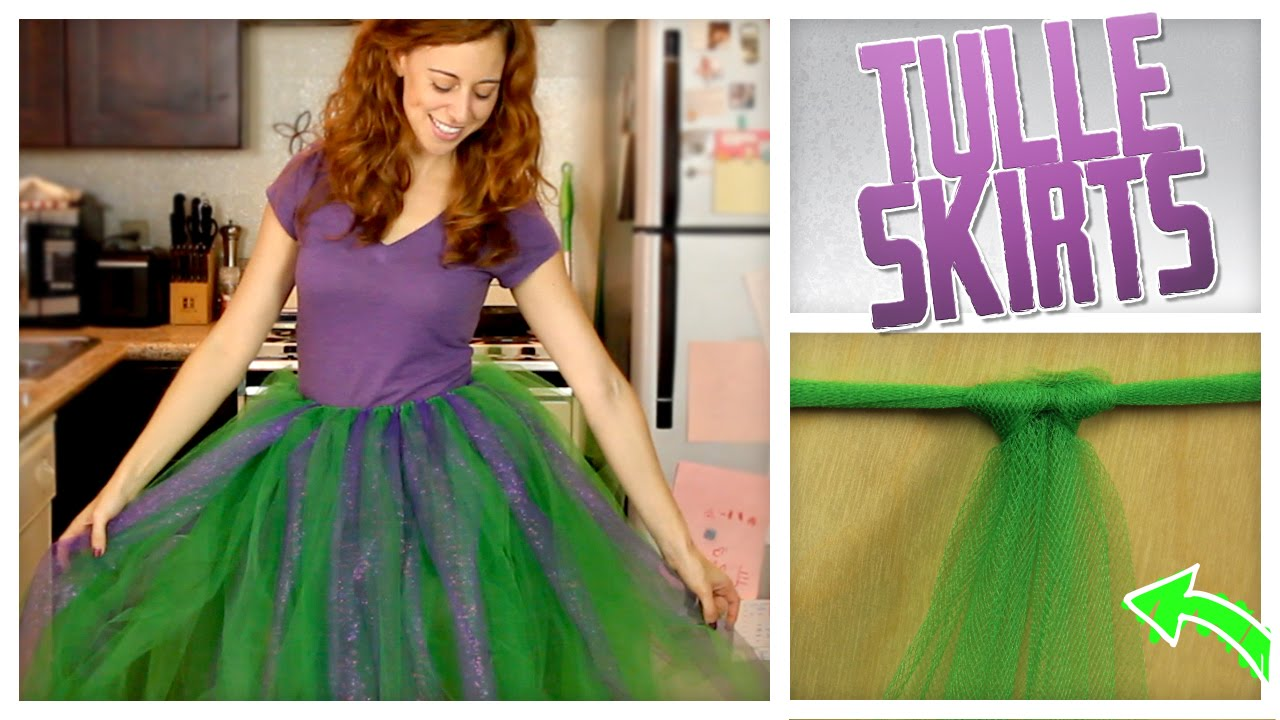 Diy no sew tulle skirt do it gurl youtube solutioingenieria
