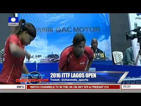 Sports This Morning: N13.8M Prize Money For 2016 ITTF Lagos Open
