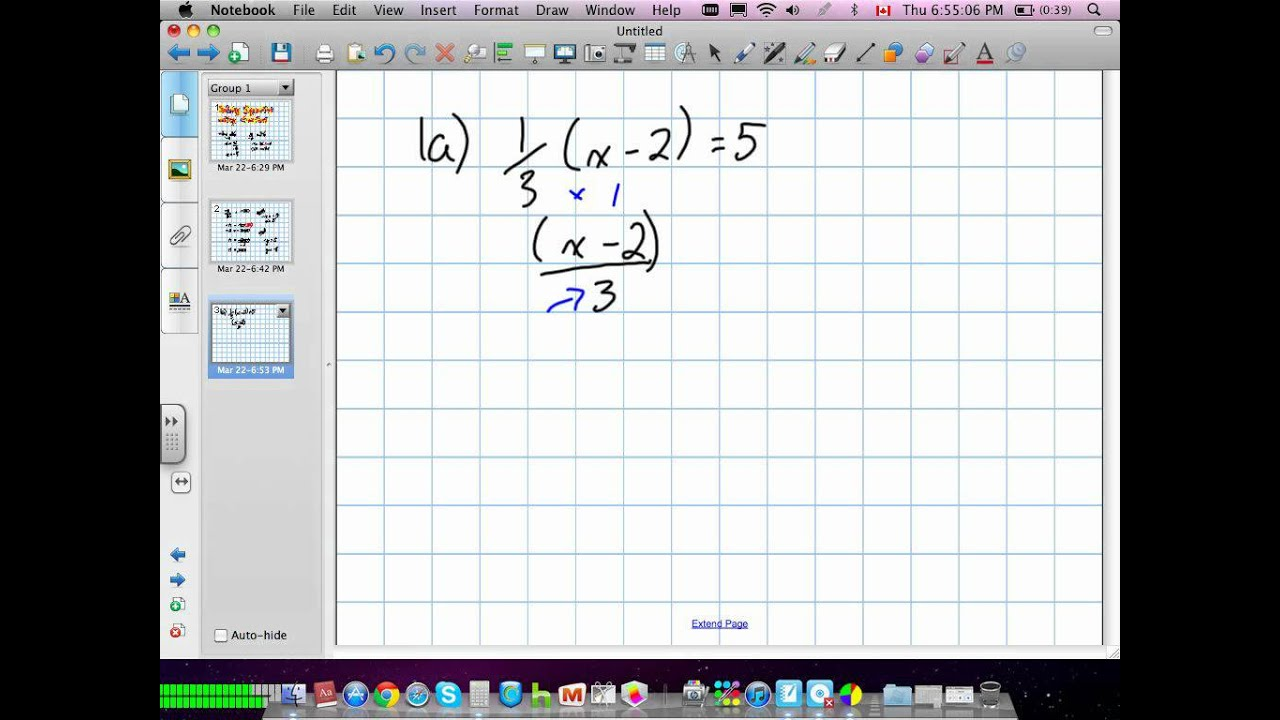 Solving Equations With Fractions Grade 9 Academic Lesson 4 3 03 22 12