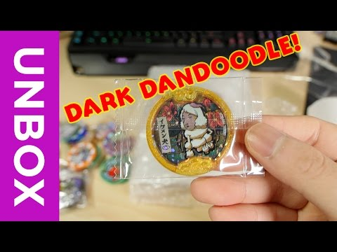 DARK DANDOODLE! Yo-Kai Watch Unboxing Haul FromJapan + Exclusive Flengu Medal