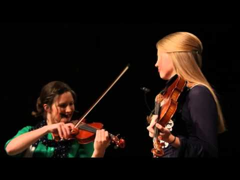 Brooklyn and Courtney Collingsworth fiddle duet Power in the Blood 050815