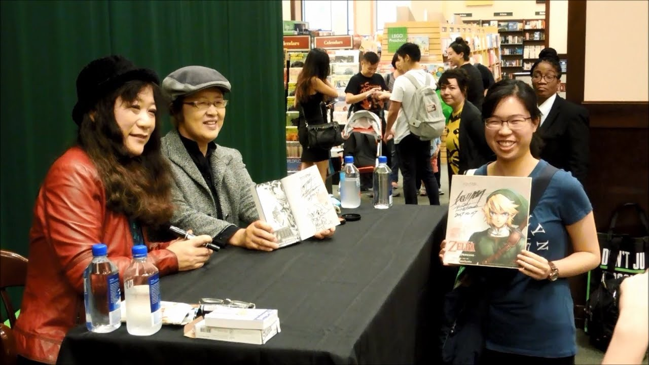 The Legend of Zelda Manga Creators Akira Himekawa Meet & Greet at Barnes & Noble and Nintendo NY