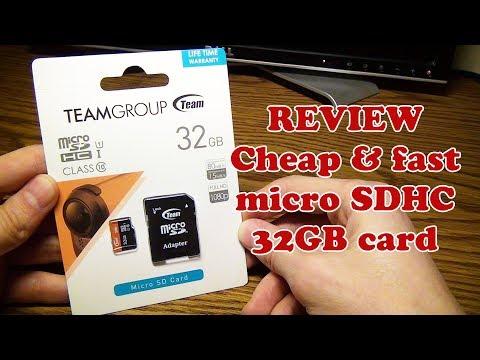 📦 Обзор карточки памяти  MicroSDHC TEAM на 32Gb (TUSDH32GUHS03)