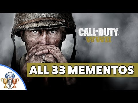 Call of Duty WW2 - All 33 Memento Collectibles Locations (Piece of History Trophy & Achievement)