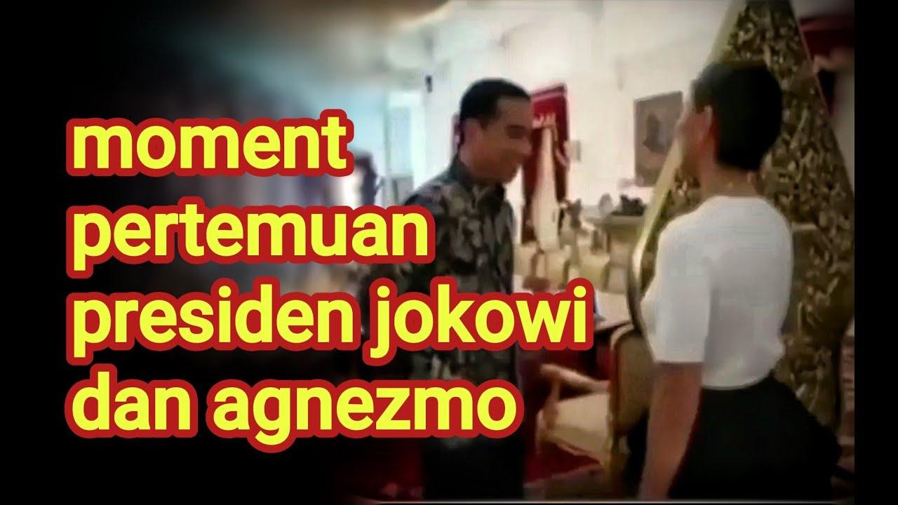 Moment Presiden Jokowi Bertemu dengan Agnezmo #Jokowi_update