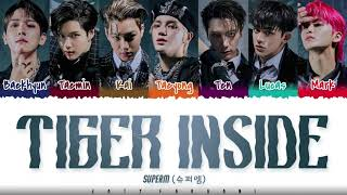 SuperM - 'TIGER INSIDE' Lyrics [Color Coded_Han_Rom_Eng]