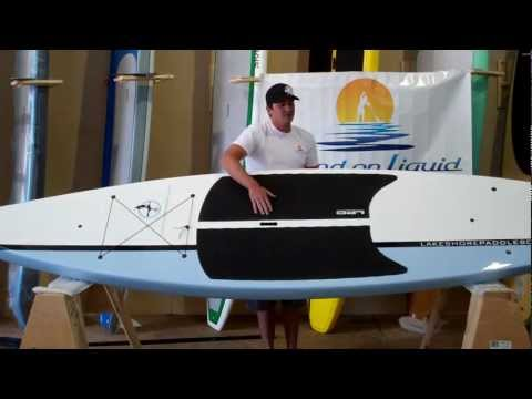Stand up paddle board review of 12 ft 6 in Lakeshore Paddleboard Heavenly by Stand on Liquid