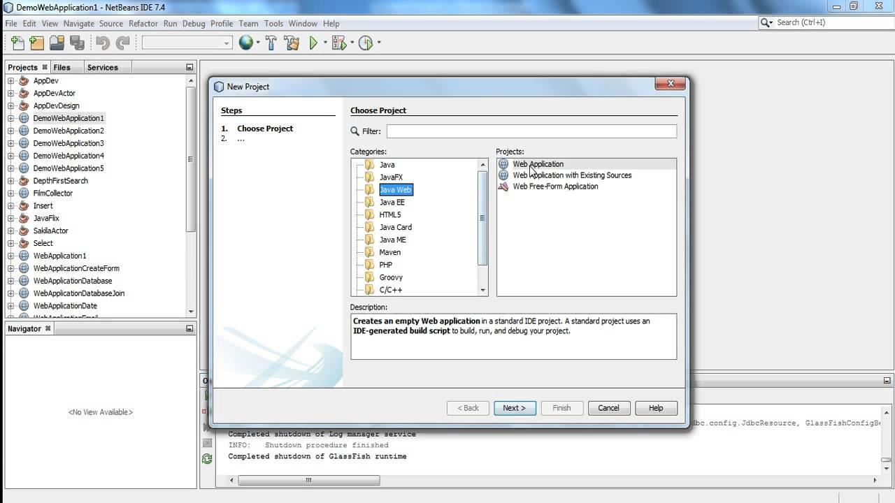 Creating A Simple JSP Web Application in NetBeans
