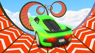 ATTEMPTING WORLDS MOST DIFFICULT STUNT RACE! (GTA 5 Funny Moments)