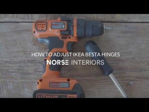 How to Adjust IKEA Besta Hinges