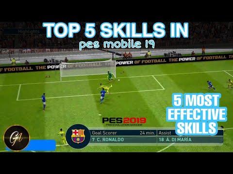 Top 5 best skills in pes 2019 mobile