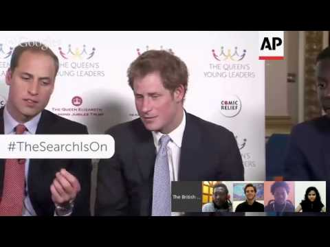 Princes William and Harry take part in a Google hang out with young people from across the Commonwea