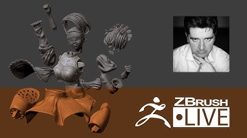 2B from NieR Automata #10: preparing for 3D printing part 1 - Fan Art sculpting with ZBrush