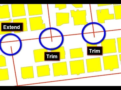 Extend Line and Trim Line in ArcGIS