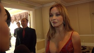 "Tanya Roberts Interview at ""Night of 100 Stars"" 2013 Oscar Viewing Gala ARRIVALS"